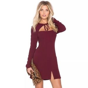 Stone Cold Fox Derek Dress Burgundy